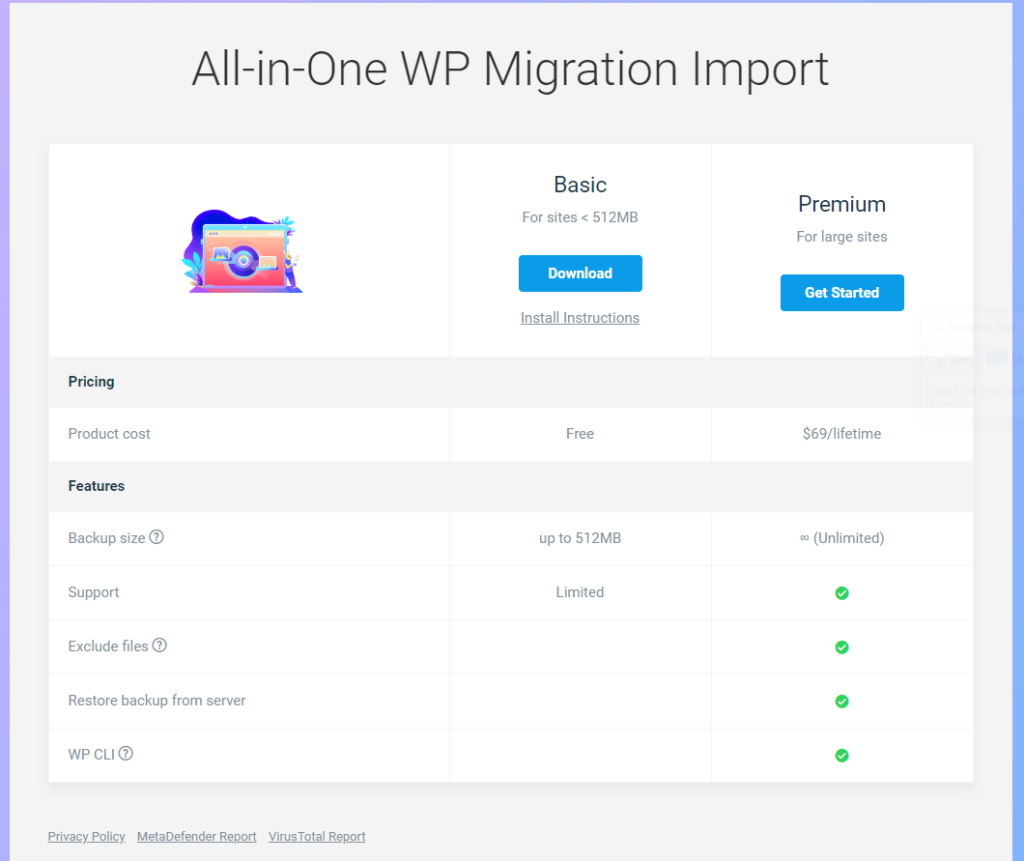 All-in-One WP Migration File Extension